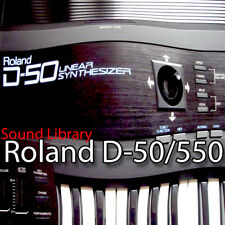 for ROLAND D-50 Original Factory and New Created Sound Library & Editors on CD