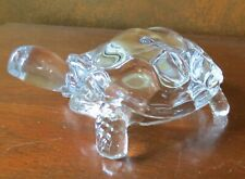 "Cristal d' Arques 6"" Crystal Turtle Tortoise Figurine Paperweight"