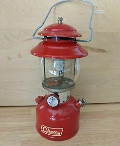 Original 1966 COLEMAN 200A Sunshine of the Night Lantern Single Mantle RED 2/66