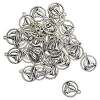 30Pcs Tibetan Silver Sailboat Charms Beads Pendant for DIY Jewelry Findings