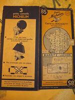 carte michelin 85 biarritz luchon  1950