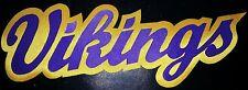 "HUGE MINNESOTA VIKINGS IRON-ON PATCH - 4"" x 11"""