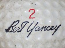 1964 Bert Yancey Medalist #2 Signature Logo Golf Ball