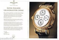 PUBLICITE ADVERTISING 0105  2014  PATEK PHILIPE  coll montres (2 pages recto-ver