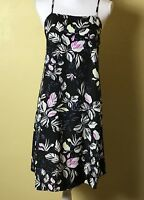 Olive And Oak Womens Dress Size Large Adjustable Spaghetti Strap Floral Black