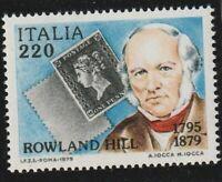 ITALY 1979 ROWLAND HILL CENTENARY DARK SHADE COMMEMORATIVE STAMP MNH