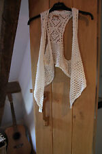 Mudd Ladies Ivory crochet style top / Cardigan size approx 10