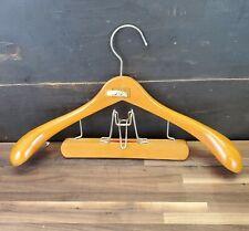 VINTAGE Fitwell Birnbaum Ltd made in Germany wooden hanger suit pants clip