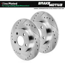 For Mercedes Benz C250 C300 Rear Drilled And Slotted Brake Rotors