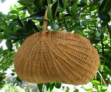 """Beautifully Hand Woven Solid Butt Basket 10"""" W 10"""" Tall X 8"""" Brim Natural Finish"""