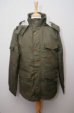 Weird Fish Goldbug military olive green hooded waxed cotton parka jacket M 40""
