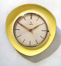 "50s Junghans Küchen Wand Uhr Keramik ""4866"" ceramic wall clock horloge annees 50"