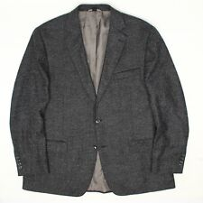 Kroon Pan Mens Sport Coat 44R Blue Gray Wool Blend Tweed 2 Button Jacket
