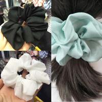 Trendy Lady Hair Scrunchie Ring Elastic Pure Color DanceScrunchie Bobble X6F0