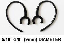 """2 EARHOOK BLUETOOTH HEADPHONES LARGE CLAMP BLACK 5/16""""-3/8"""" (9mm) DIAMETER"""