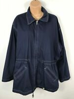 WOMENS BHS NAVY BLUE LIGHT WEIGHT SUMMER OVERCOAT JACKET CASUAL SIZE UK 18