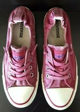 Converse All Stars Women's 7 EUR 37.5 Pink/Red Low Tops Elastic Heel Chucks