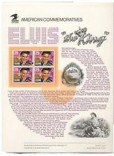 #2721  29c Elvis Presley USPS #406 Commemorative Stamp Panel