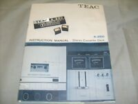 Vintage TEAC A-250 Stereo Cassette deck tape player - Manual , 2 Knobs, ID / a6