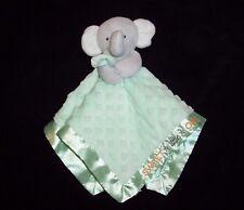 Carters Child of Mine Green Elephant Baby Blanket Sweet Little One Minky Dot