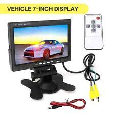 "7"" inch  LCD TFT Color Screen Monitor 2 Video Input Car Rear View Backup Camera"