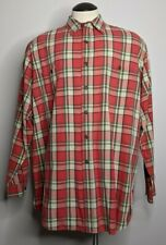 Abercrombie & Fitch Men's XL Long Sleeve Button Up THE BIG SHIRT Red Green Plaid