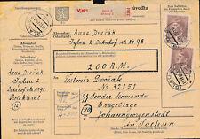 1945 Gaul Germany Parcel Cover Flossenburg KZ Concentration Messerschmidt Camp