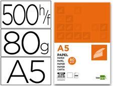 5 PAQUETES PAPEL LIDERPAPEL A5 80G/M2 PAQUETE DE 500 BLANCO (28229)