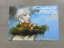 BILAL CARTE POUR LE FESTIVAL BD SOLLIES 2005 TBE