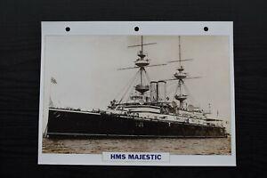 Naval Capital Ship HMS Majestic 1895 Battleship Photo Print Maxi Card