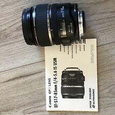 Canon EF-S 17-85mm f/4-5.6 IS USM Zoom Lens, Very Good Condition!