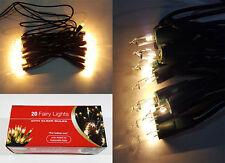NUOVA lampadina chiara di Natale 20 Luci Fata Albero Decorazione Festa Di Natale & UK STOCK