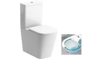 Moods Bathrooms to Love Tilia Rimless Comfort Height Toilet & Soft Close Seat...