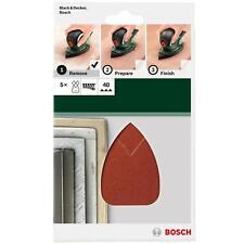BOSCH Juego de hojas lijado K 40 PARA MULTI PSM Primo, Black & Decker ratón