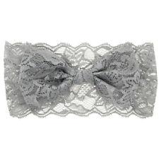 Gray BB Hairwear Soft Lace Mesh Bowknot Hair Band Hairpin Lovely Headdress