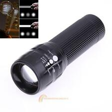 3W 3 Mode Waterproof Zoomable LED Flashlight Focus Torch Lamp Light Outdoor