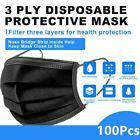 100 Pcs Black Face mask 3 Ply Disposable Face Mask Non Medical Surgical mask <br/> Face mask good Face mask help you fast ship