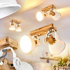 Holz/weiß Vintage Decken Lampe Wohn Schlaf Zimmer Leuchte Flur Dielen Strahler