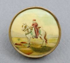 North Africa Soldier. Wwi ? Jewelry French, Antique Brooch. Mehariste and Horse.