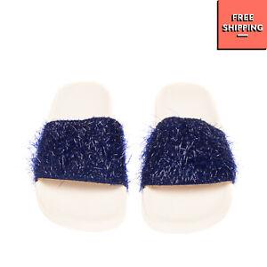 Slide Sandals Size 36 UK 3 US 6 Textured Shiny Effect Footbed Sole Open Toe