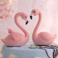 Flamingo Cake Topper Wedding Happy Birthday Party Resin Decor Supplies DP
