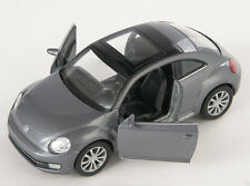 BLITZ VERSAND VW New The Beetle 2012 grau / grey Welly Modell Auto 1:34 NEU OVP