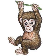 "Baby Monkey Applique Patch - Animal, Infant Badge 2-7/8"" (Iron on)"