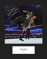 THE ROCK #2 (WWE) Signed 10x8 Mounted Photo Print - FREE DELIVERY
