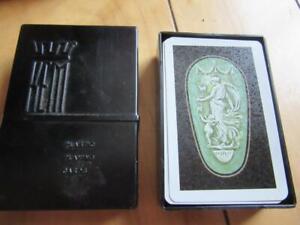 VINTAGE KEM BAKELITE CASE ATHENS DECK PLAYING CARDS FULL DECK 2 DAMAGED CARDS