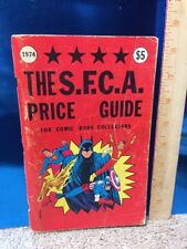 SFCA Price Guide For Comic Collectors 1974 Rare Vintage