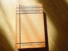STRUCTURAL MECHANICS BOOK 1947 FOR BUILDING AND ARCHITECTURAL STUDENTS