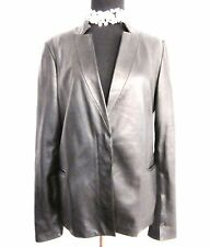 Max Azria | Leather Jacket | Blazer with Knit Panels on Back and Sleeves Size M