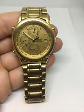 Seiko retro world timer men's luxury watch needs band repair NEW BATTERY INSTALL