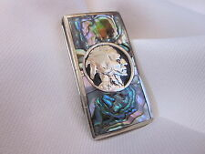 Abalone Inlaid Silver Indian Head Money Clip. Plus 2. .999 bars